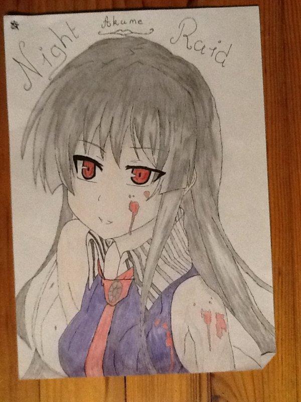 Dessin d'Akame !!!!