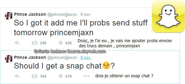 Prince sur snapchat ?