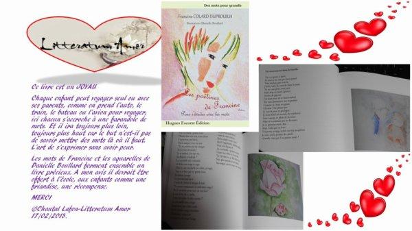 Les poétines de Francine de Francine Colard Duprouilh chez Hugues Focorat Edition.