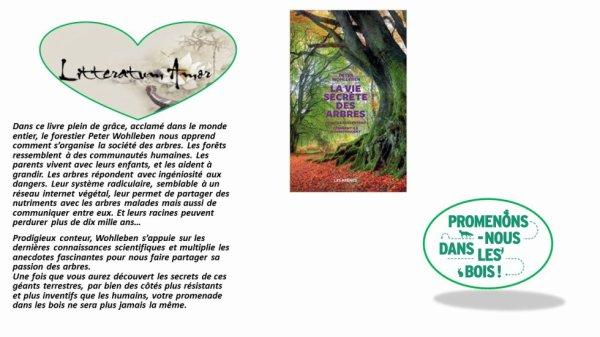 La vie secrète des arbres de Peter Wolhlleben aux éditions les Arènes, traduit de l'allemand par Corinne Tresca.