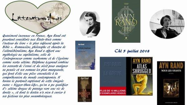Ayn Rand femme Capital de Stéphane Legrand aux éditions Nova.