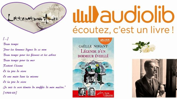 Légende d'un dormeur éveillé de Gaelle Nohant chez Audiolib avec les voix d'Antoine Leiris et Rafaèle Moutier.