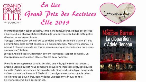 La disparition d'Adèle Bedeau de Graeme Macrae Burnet aux éditions Sonatine traduit de l'anglais par Julie Sibony.