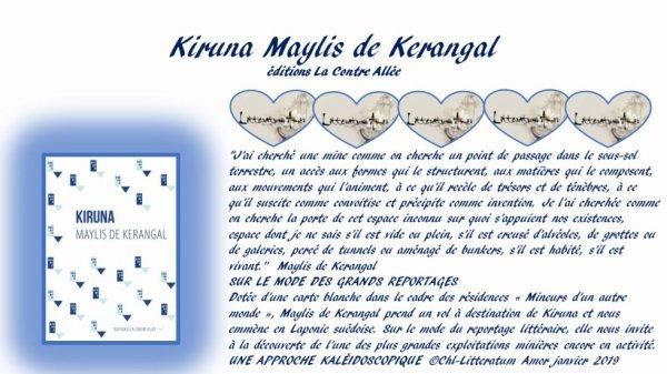 Kiruna de Maylis de Kerangal aux éditions La Contre Allée.