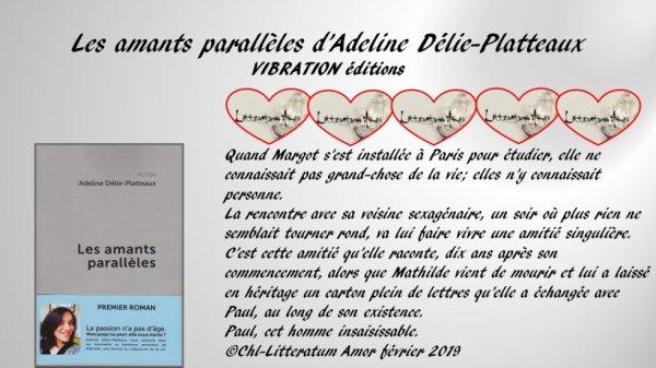 Les amants parallèles d'Adeline Délie-Platteaux Vibration éditions 2019