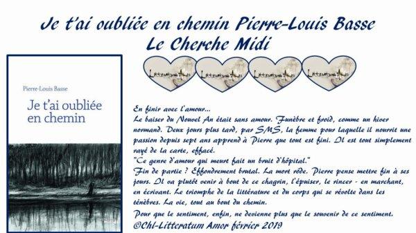 Je t'ai oubliée en chemin de Pierre-Louis Basse Le Cherche Midi