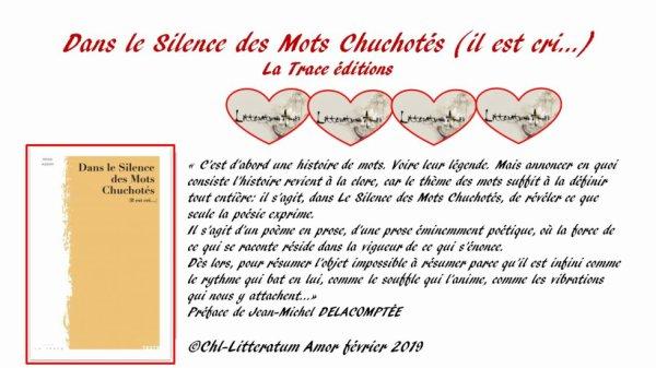 Dans le Silence des Mots Chuchotés (il est cri…) de Mona Azzam La Trace éditions.