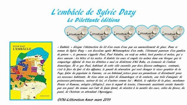 L'embâcle de Sylvie Dazy Le Dilettante éditions.
