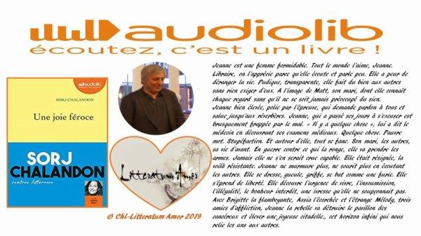 Une joie féroce de Sorj Chalandon aux éditions Grasset/AUDIOLIB
