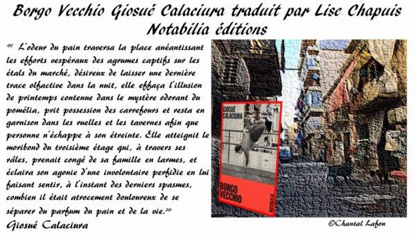 Borgo Vecchio de Giosué Calaciura traduit par Lise Chapuis Notabilia éditions.