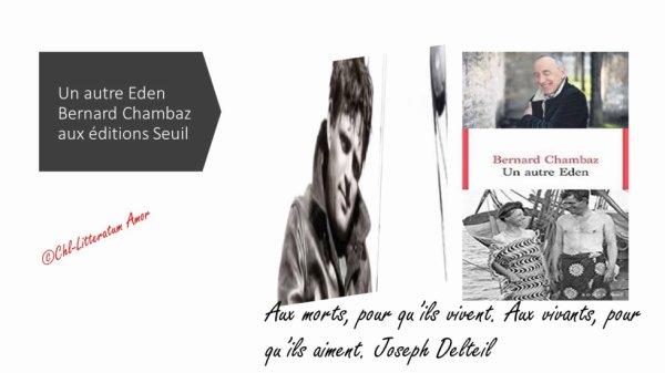 Un autre Eden Bernard Chambaz aux éditions du Seuil