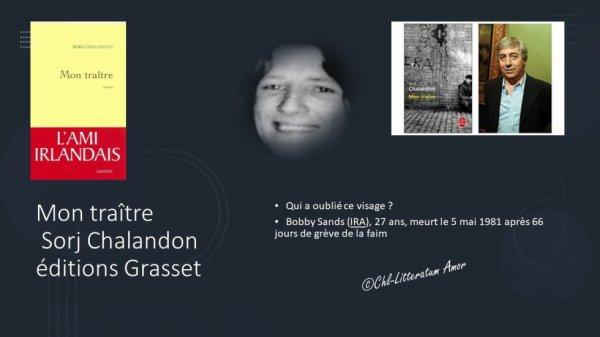 Mon traître Sorj Chalandon aux éditions Grasset.