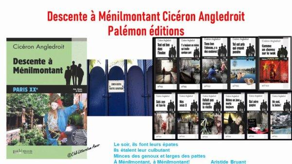 Descente à Ménilmontant Cicéron Angledroit aux éditions Palémon.