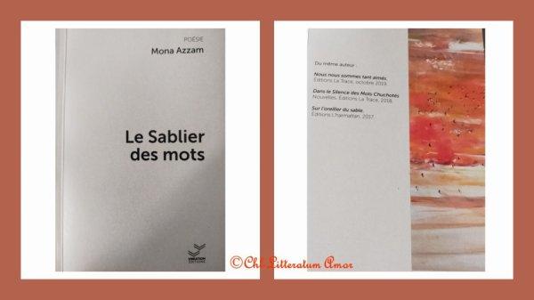 Le sablier des mots Mona Azzam aux éditions Vibration
