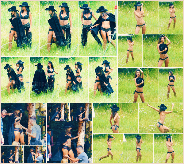 -─ 15/08/17-' : Notre Alessandra Ambrosio à été photographiée lors d'un tournage d'un shoot pour - « Victoria Secret ».  Notre mannequin à été vue en compagnie du mannequin et grande amie Adriana Lima. Hâte de voir le résultat des photos pour la marque, c'est un TOP !