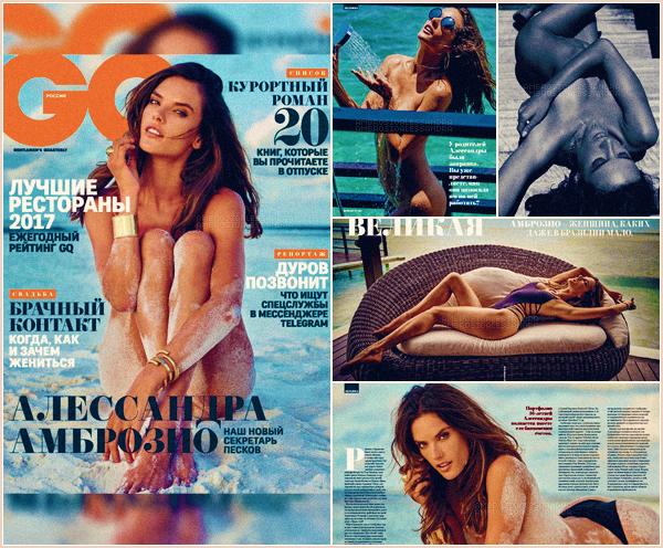 -─ PHOTOSHOOT-' : Alessandra Ambrosio fait la couverture du magazine russe « GQ Russia » pour ▬ septembre 2017 !  Notre mannequin à le droit pour notre plus grand plaisir à 5 pages juste pour elle. Je trouve les photos plutôt pas mal Alessandra est juste magnifique !