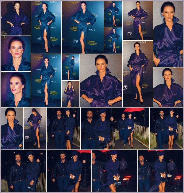 -─ 01/10/17-' : Alessandra Ambrosio à été photographiée lors de la soirée ▬ « Vogue x Irving Penn » à Paris pour la F-W.  Pour une fois je ne suis vraiment pas fan de la tenue d'Alessandra, c'est donc pour moi un BOF qui est presque un FLOP donne toi aussi ton avis sur Ale.