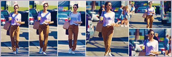 -─ 11/10/17-' : Alessandra Ambrosio à été photographiée allant au restaurant « Gjelina Take Away » dans Venice Beach.  La nouveauté d'Alessandra viens d'apparaître (18/10/17), au niveau de la tenue Alessandra porte la même que pour prendre l'avion c'est un beau TOP !