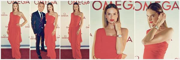 -─ 07/11/17-' : Alessandra Ambrosio à été photographiée assistant à célébration de la collection « OMEGA Aqua Terra »  Nouveau tapis rouge pour notre magnifique Alessandra, au niveau de la tenue c'est un  gros coup de coeur Alessandra est juste parfaite un beau ▬ TOP.
