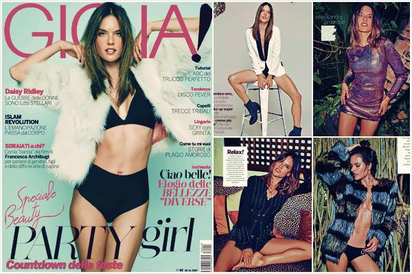 PHOTOSHOOT | Novembre 2017 - Découvrez le photoshoot d'Alessandra pour le magazine Gioia !