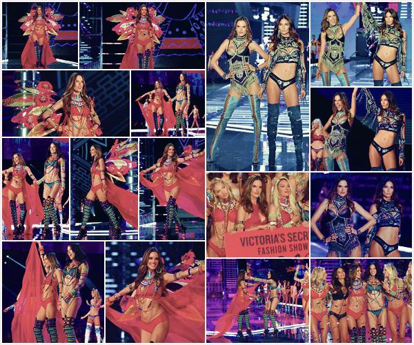 -─ 20/11/17-' : Alessandra Ambrosio à été photographiée défilant sur le podium pour « Victoria Secret Fashion Show » !  Pour sa dernière année chez Victoria Secret, notre mannequin porte deux tenues totalement différentes. C'est un vrai coup de coeur elle est parfaite TOP.