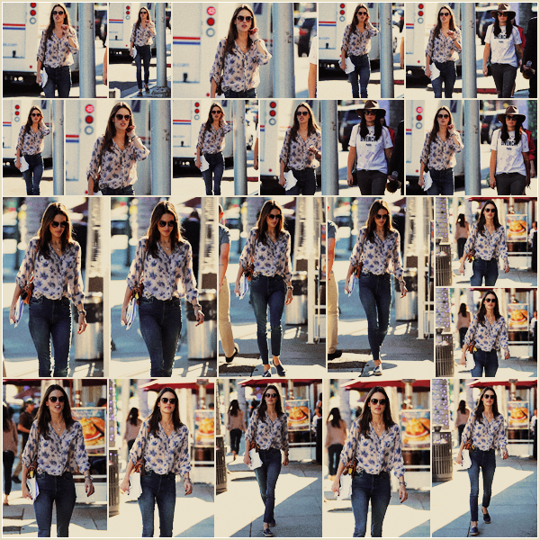 -─ 12/12/17-' : Alessandra Ambrosio à été photographiée en train de se balader dans la grande ville de « Beverly Hills » !  Nouvelle sortie pour notre mannequin favorite et je dois dire que j'aime beaucoup sa tenue c'est donc pour moi une fois de plus un beau - TOP pour Ale.