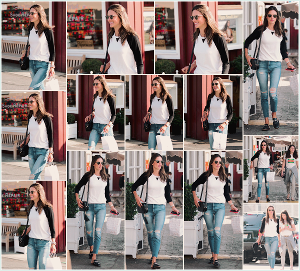 -─ 18/01/18-' : Alessandra Ambrosio à été photographiée avec des amis dans les rues de « Brentwood » à Los Angeles !  Alessandra est de retour de ses vacances du brésil pour reprendre son quotidien dans les rues vers chez elle. Au niveau de la tenue c'est un beau TOP.