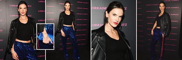 -─ 13/03/18- : Alessandra Ambrosio à été aperçue lors de l'événement - « Lorraine Schwartz Eye Bangles Collection » !  Un nouvel événement pour notre magnifique Alessandra, malheureusement je n'aime pas du tout son pantalon lors de la sortie. C'est pour moi un FLOP.