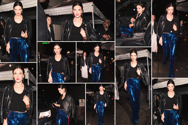 -─ 13/03/18- : Alessandra Ambrosio à été photographiée quittant l'événement dans le club Delilah à « West Hollywood »  Après avoir pris la pose sur le tapis rouge notre sublime maman à été photographiée en quittant cette soirée dans la même tenue que l'événement FLOP.