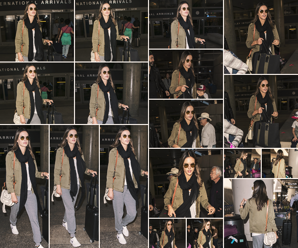 -─ 28/03/18- : Alessandra Ambrosio à été photographiée à l'aéroport LAX de « Los Angeles » après un voyage en Chine !  C'est en compagnie de sa fille Anja et d'un ami qu'Alessandra à été vue dans l'aéroport, au niveau de la tenue c'est pour moi un petit - TOP voir un BOF.