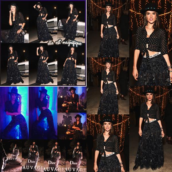 -─ 12/04/18- : Alessandra Ambrosio à été photographiée lors de la soirée « Dior Sauvage » à Pioneertown en Californie !  Lors de cette soirée notre jeune maman à jouée avec les photographes pour nous proposer des magnifiques clichés ! Au niveau de la tenue c'est un TOP.