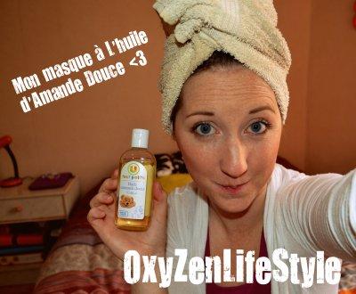 Masque pour les cheveux à l'huile d'amande douce
