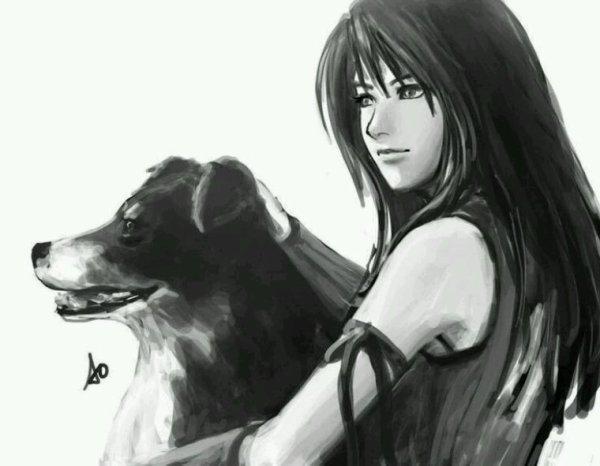 Linoa et sa chienne