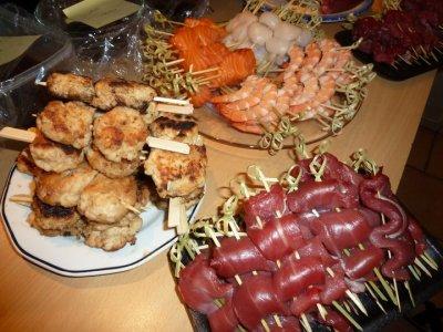 Repas de reveillon  Japonais suchi ,maki et yakitori