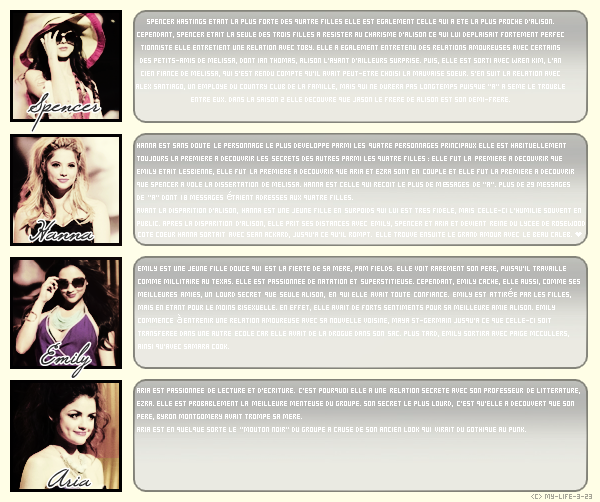 ▬ ▬ ▬ Article 5 ; Pretty Little Liars ; Serie ; ▬ ▬ ▬ | Créations | Décorations | Other | Blog Music |
