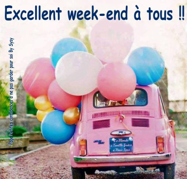 hello bon week end à tous
