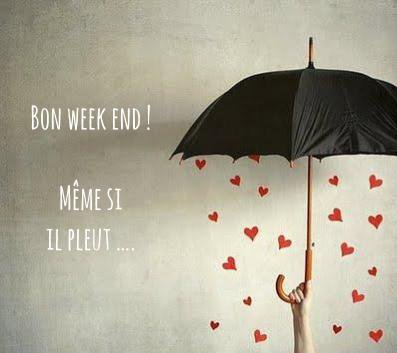 week end pluvieux