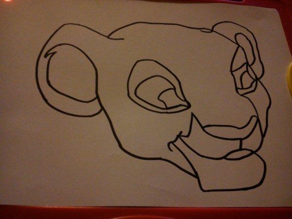 Mon 1er dessin nala