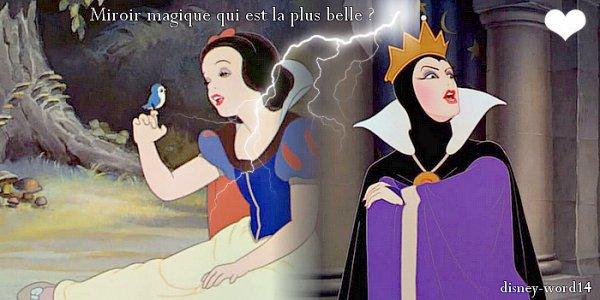 La reine miroir magique au mur qui beaut parfaites - Miroir de blanche neige ...