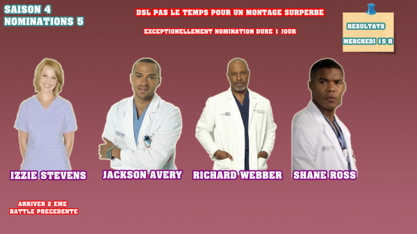 Nominations 4 : Izzie / Jackson / Shane / Richard
