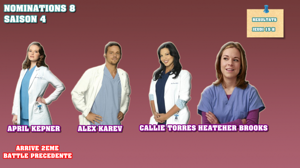 Nominations 8 : April / Alex / Callie / Heather