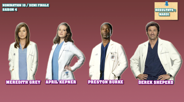 Nomination 10 : Demi Finale : Meredith / April / Derek / Preston
