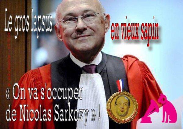 Non M. Sapin votre job est de permettre le plein emploi en France et non de vous occupez de M. Sarkozy ! Montage Jack Chevalier. A Partager