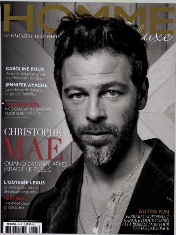 """Christophe dans le Magazine """"Homme Deluxe"""" déjà en vente!"""
