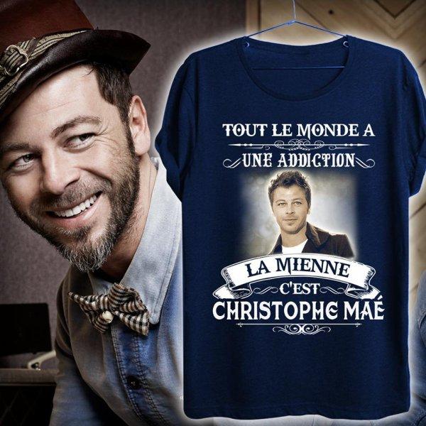 Le nouveau t-shirt pour fans de Christophe Maé!!!