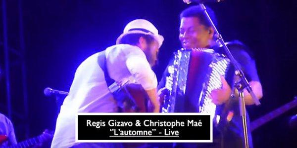 hommage a Régis Gizavo un musicien de Christophe qui jouer de l'accordéon