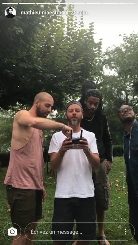 Christophe Maé découvre les drones !!