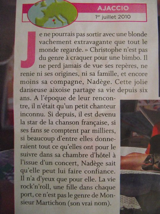 article sur Christophe mae