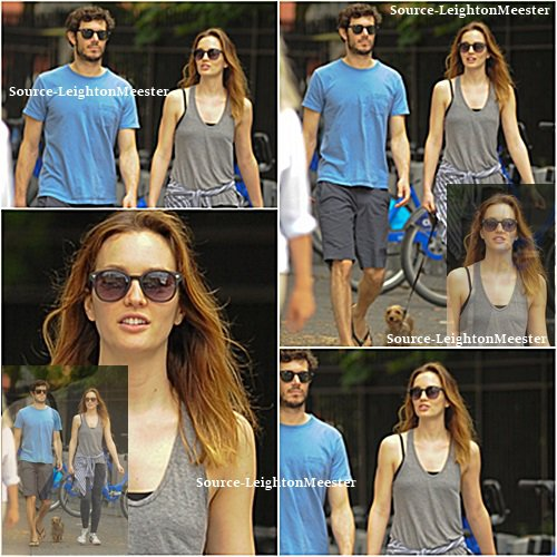 17juillet, Leighton, Adam & leur chien à New-York