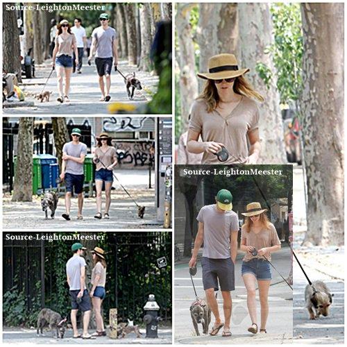 21juillet, promenade matinale pour Leighton, Adam & leurs chiens, à New-York